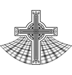 Stencil of scottish celtic cross vector
