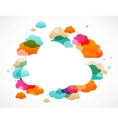 Colorful clouds - abstract background vector