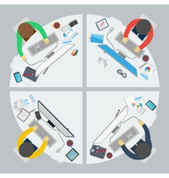 Flat design style of business meeting vector