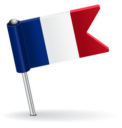 French pin icon flag vector