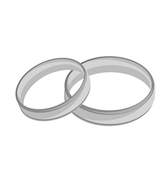 Silver wedding rings vector