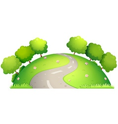 Road and nature vector