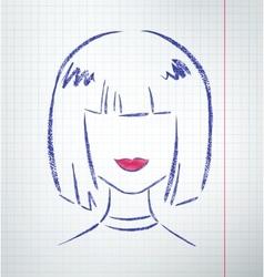 Female avatar vector