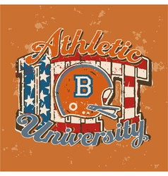 American football university athletic department vector