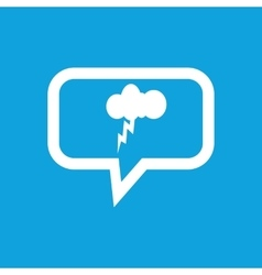 Thunderstorm message icon vector