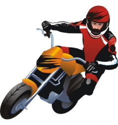 Motorcycle racer vector
