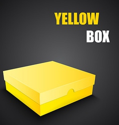 Package yellow box design vector