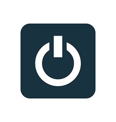 Power on icon rounded squares button vector