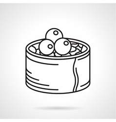 Black line icon for sushi roll vector