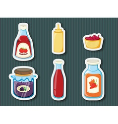 Sticker series of containers vector