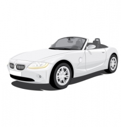Convertible car vector