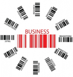Business bar codes vector