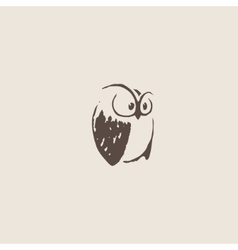 Owl doodle cartoon vector