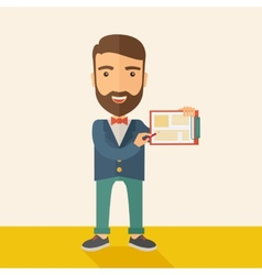Handsome man with clipboard vector