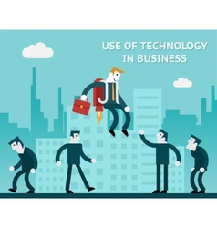 Use of technology in business vector