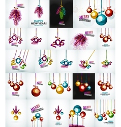 Set of christmas baubles new year concepts vector