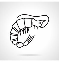 Black line icon for shrimp vector