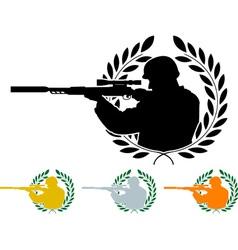 Stencil of sniper vector