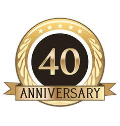 Forty year anniversary badge vector