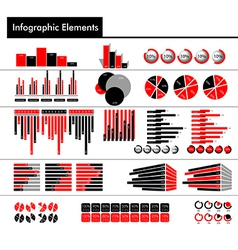 Infographic in black red and gray color vector