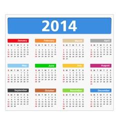 2014 calendar vector