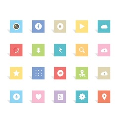 New style icons vector