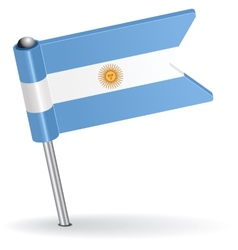 Argentine pin icon flag vector