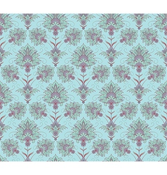 Blue victorian seamless background vector