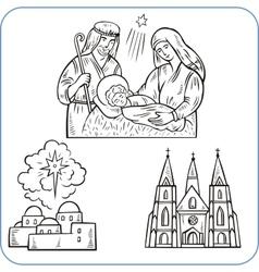 Biblical scene - vector