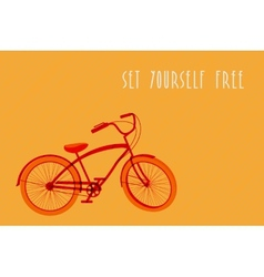 Hipsters bicycle sketch vector