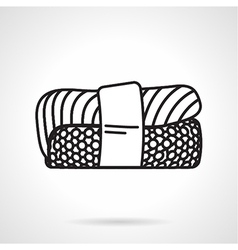 Black line icon for sushi vector