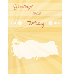 Greetings from turkey vector