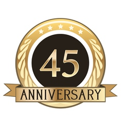Forty five year anniversary badge vector