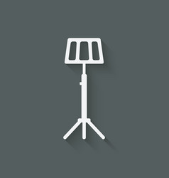Music stand symbol vector