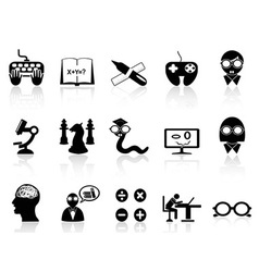 Nerds icon set vector