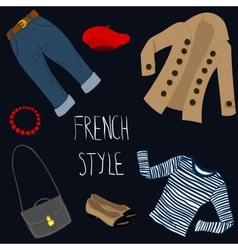 French style clothes set vector