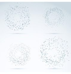 Drop design elements - transparent particles vector