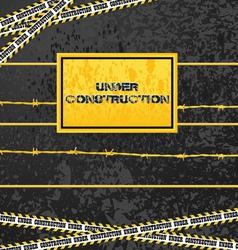 Under construction industrial design vector