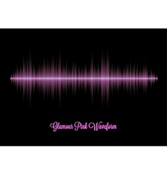Pink glamour music waveform with sharp peaks vector