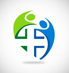 Medical people circle logo vector