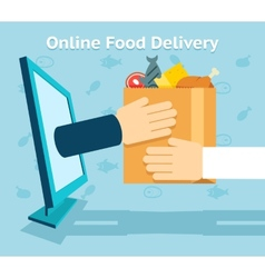 Online food delivery vector