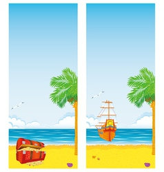 Sea and islands vector
