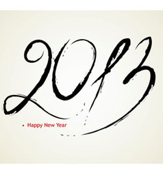 2013 calligraphy vector