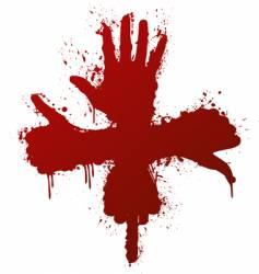 Hand gestures ink splatter concept vector