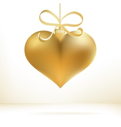 Golden christmas heart decoration  eps8 vector
