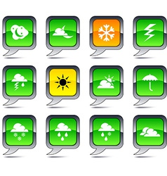 Weather balloon icons vector