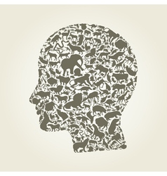 Head an animal vector
