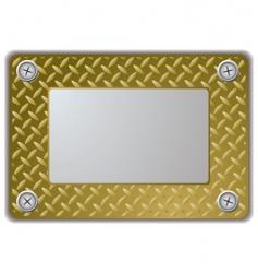 Metal mirror frame vector