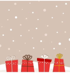 Retro christmas background vector