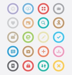 Round simple icons vector